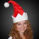 Sombrero de la Navidad con el canto brillante forc