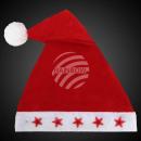 Großhandel Fashion & Accessoires: Weihnachtsmütze rot Motiv: 5 rote Sterne