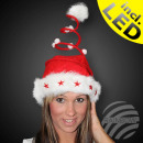 Santa hat red motif: spiral and 5 stars
