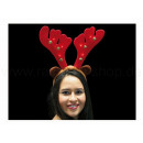 Hair tires moose antlers with bells and LEDs