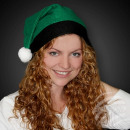 Christmas hats green with black border