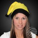 Boże Narodzenie kapelusze żółte z czarnym obramowa