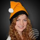 Christmas hats Santa Claus hats color orange