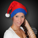 WM-43 red Santa hat Santa hat with blue trim