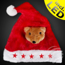 Santa hat red Motiv: Bear 5 red stars