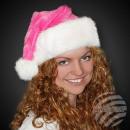Kerstmutsen Kerstman roze een. Dikke pluche