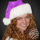 Christmas hats Santa Claus made of thick purple pl