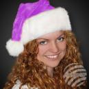 Chapeaux de Noël Père Noël faits de peluche pourpr