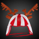 WM-82 Christmas hat with reindeer antlers in brown