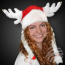 X-Mas Fun with horns and long braids in white.