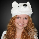 WM-85 Polar Bear Plush Beanie - soft and cuddly