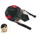 Großhandel Kopfbedeckung: Zandana, Leder Optik Bikertuch Flammen