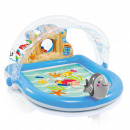 inflatable pool with sun and water jets -