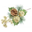Großhandel Figuren & Skulpturen: Großhandel  Blumenstrauß Golden Christmas