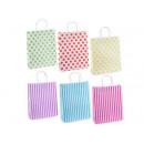Hurtowe białe torby papierowe z kolorowym nadrukie