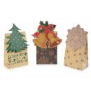 Hurtowe świąteczne torby papierowe naturalne