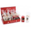 Großhandel Kerzen & Kerzenhalter: Weihnachten dekoriert Kerzen