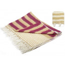 wholesale Bedlinen & Mattresses: blancket striped  bicolor cashmere effect