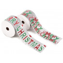 Christmas jute glitter ribbons wholesalers