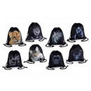 groothandel Woondecoratie: Zwart textiel tas rugzak groothandel dier design