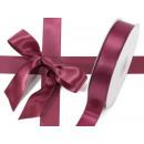 grossiste Emballage cadeau: Ruban de bourgogne double satin