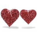 mayorista Muebles de jardin: Corazón de mimbre de color rojo