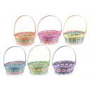 Wholesaler bamboo multi color baskets