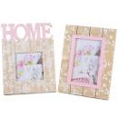 Ingrosso cornici foto legno decori rosa