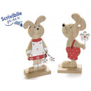 Wholesale valentines rabbit wood from window displ
