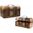 Skórzane kufry, skórzane wstawki