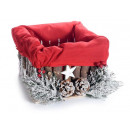 Wholesale Christmas basket with snow-covered decor