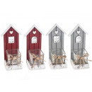 Christmas glass wood candle holder wholesalers