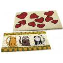 Großhandel Büromaterial: Groß Fußmatte Teppich Herzen