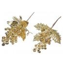 Gold glitter Christmas sprig wholesaler