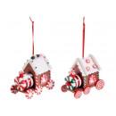 Christmas resin paste train decorations wholesaler