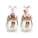 Wholesaler Easter glass jar rabbit decoration