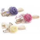 Wholesale artificial flowers jute clothespin