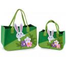 Großhandel Tuch Ostern Handtaschen mit Kaninchen