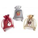 groothandel Tuin & Doe het zelf: Kerstgroothandel in lamézakken met glitterversieri