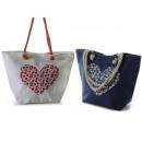wholesale Handbags: Wholesale jute jute design heart design