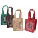 wholesale Handbags: Wholesaler jute transparent window bags