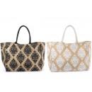 Großhandel Handtaschen:Groß gedruckt Jutesäcken