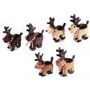 grossiste Accessoires de voiture: Gros renne de Noël apporte pot de rotin