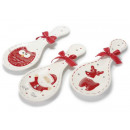 Weihnachten dekoriert Keramik Löffel ruht