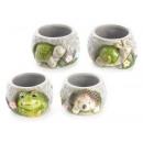 Hurtownia ceramicznych słoików z dekoracją zwierzę