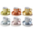 Wholesalers ceramic coffee cups heart decor
