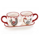 Wholesale coffee cup set with country decor