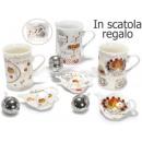 Cup saucer porcelain tea filter