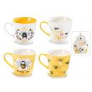 grossiste Plats: Grossistes tasses en porcelaine à décor d'abei