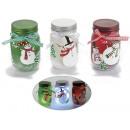 Weihnachten dekoriert Glas